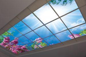 تصویر باکیفیت آسمان مجازی سقف کاذب