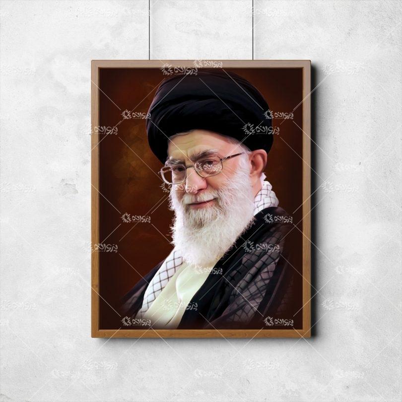 قاب عکس رهبری و امام خمینی