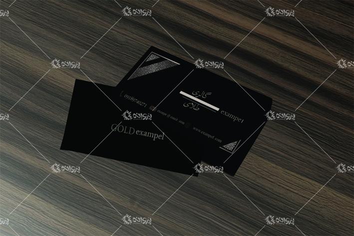 دانلود کارت ویزیت لایه باز گالری طلا