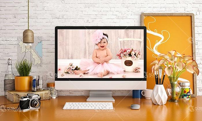 موکاپ صفحه نمایش کامپیوتر رومیزی