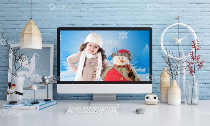 موکاپ صفحه نمایش کامپیوتر