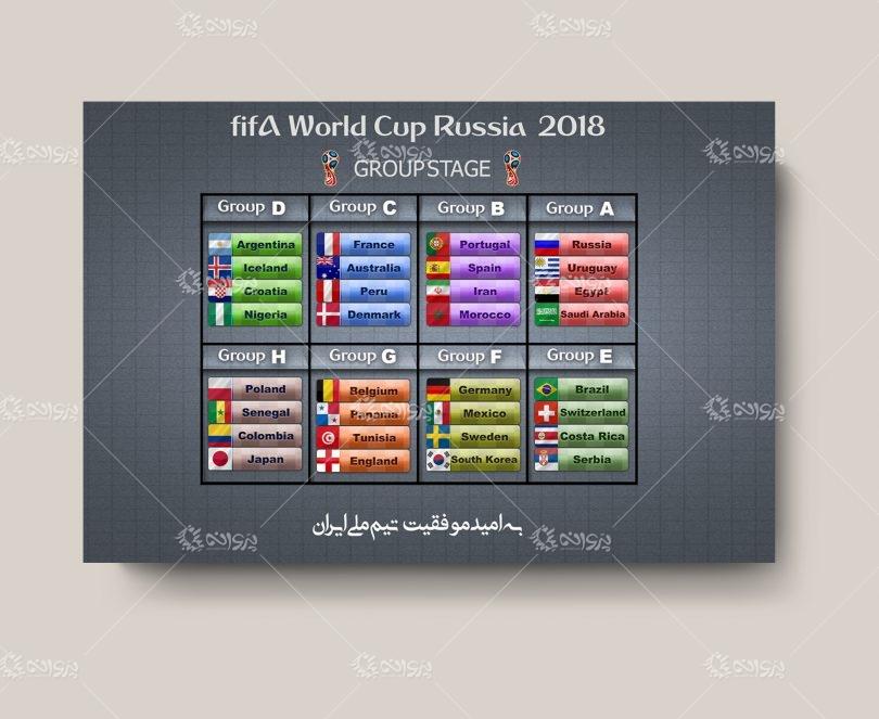 تراکت لايه باز گروه بندي جام جهاني 2018 روسيه