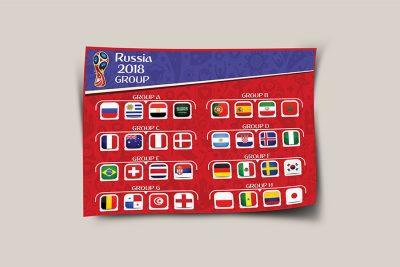 تراکت لایه باز گروه بندی جام جهانی 2018 روسیه
