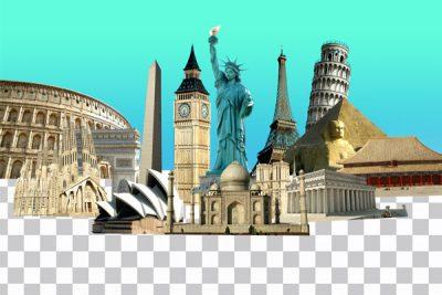 فایل لایه باز بناهای مشهور جهان مجموعه اول