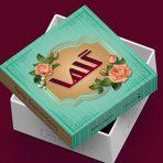 طرح جعبه شیرینی لایه باز یک کیلویی مربع- کد 960