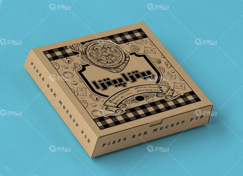 طرح لایه باز جعبه پیتزا