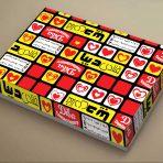 طرح جعبه شیرینی لایه باز سه رنگ رگباری _ کد 963