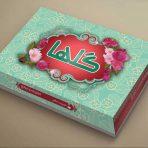 طرح جعبه شیرینی لایه باز _ کد 967