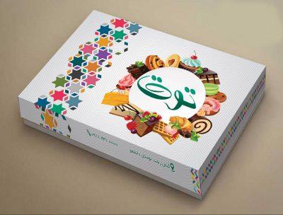 طرح جعبه شیرینی لایه باز _ کد 968