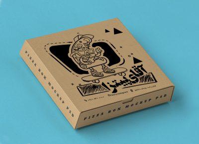طرح لایه باز جعبه پیتزا 602