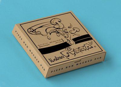 طرح لایه باز جعبه پیتزا 604