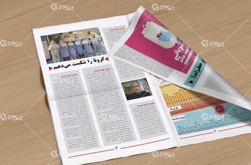 تمپلت و قالب اماده مجله