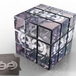 موکاپ مکعب روبیک شیشه ای (کریستالی)