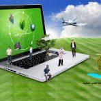 تبلیغ لپ تاپ یا محصولات اینترنتی